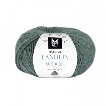 Natural Lanolin Wool 1430 Grågrønn
