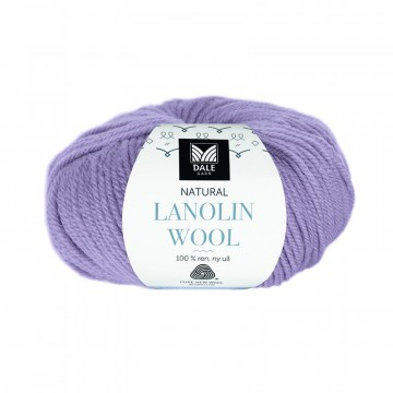 Natural Lanolin Wool 1412 Grå lavendel