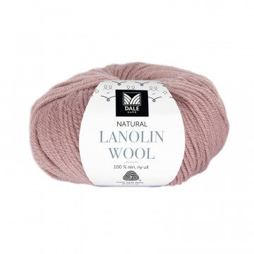 Natural Lanolin Wool 1410 Dus grårosa