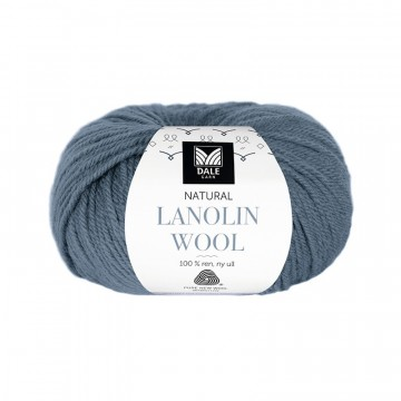 Natural Lanolin Wool 1429 Mørk denim