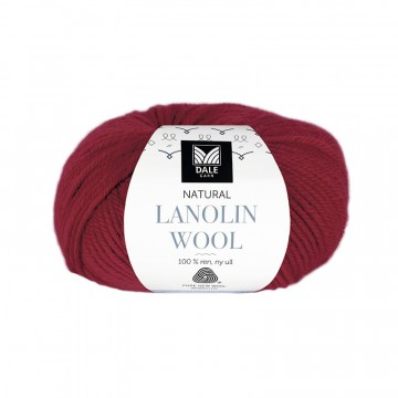 Natural Lanolin Wool 1417 Rubinrød